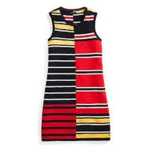 TOMMY HILFIGER Striped Shift Dress NEW NWT LARGE